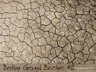 仿真土地干裂、干旱泥土纹理Photoshop笔刷素材下载