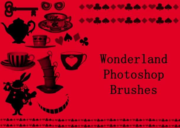 童话王国元素Photoshop装饰笔刷 童话笔刷  adornment brushes