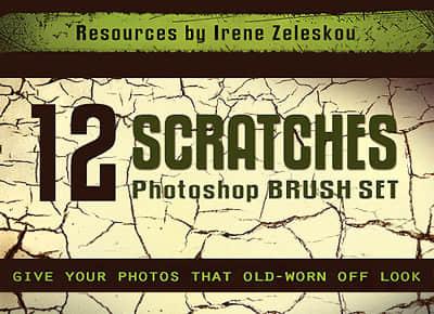 12干涸的地面、土地表面龟裂纹理Photoshop笔刷素材