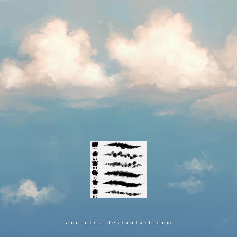 CG模拟天空白云、云彩、云层、天空云雾效果Photoshop云笔刷素材