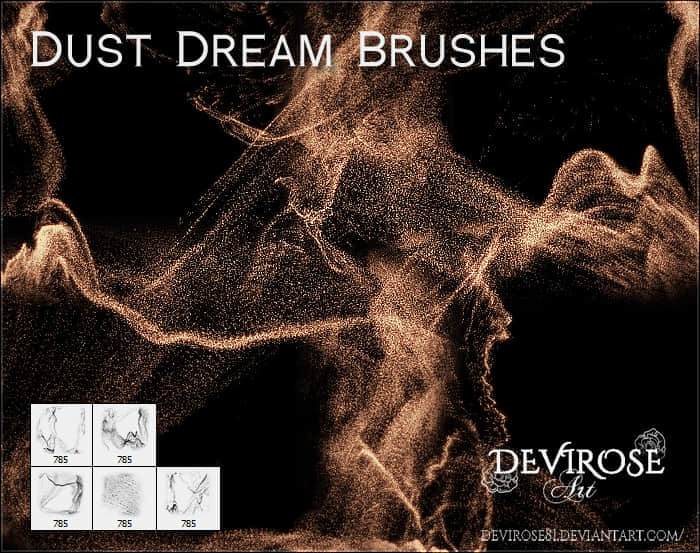 金粉、尘沙、梦幻沙尘Photoshop笔刷素材 沙尘笔刷 梦尘笔刷  background brushes