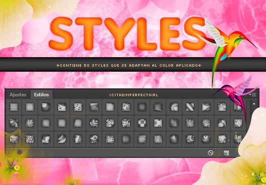 时尚靓丽背景图案Photoshop图层样式.asl文件素材下载 图层样式素材 ps图层样式  background brushes