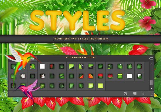 40种绿色植物PS图层样式素材下载 ps图层样式  background brushes