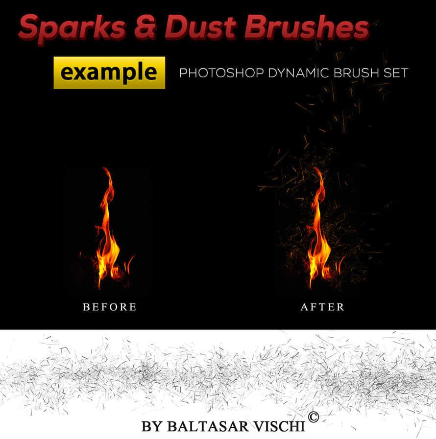 火焰、火苗燃烧的火星效果PS笔刷下载 燃烧笔刷 火星笔刷  flame brushes