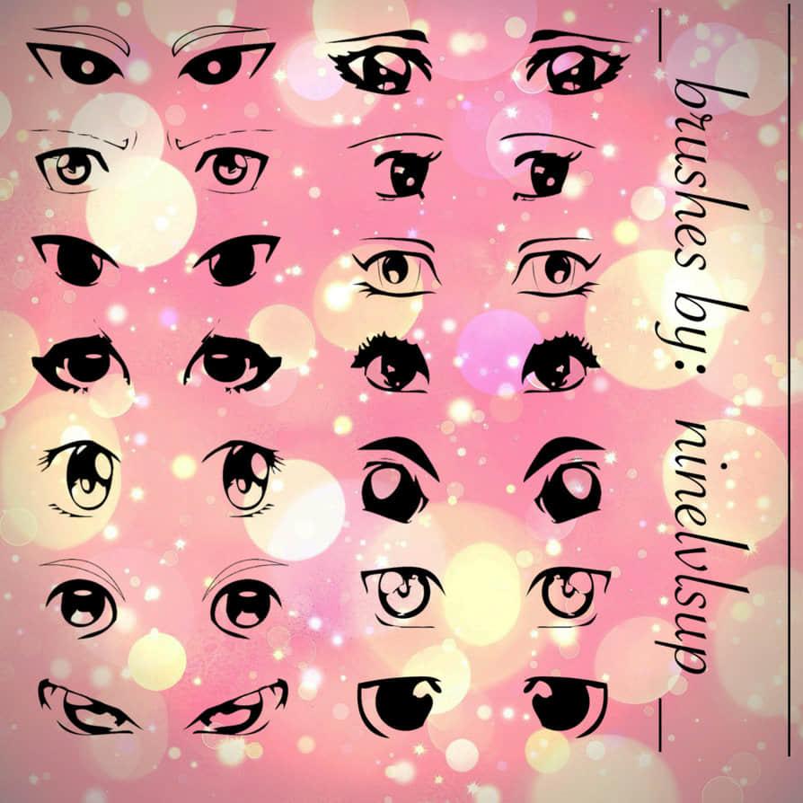 可爱日漫式卡通眼睛、眼神图形PS笔刷素材下载 眼神笔刷 卡通眼睛笔刷  %e5%8d%a1%e9%80%9a%e7%ac%94%e5%88%b7
