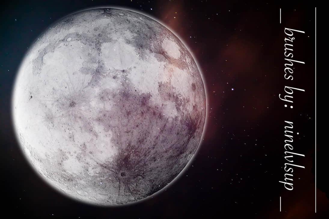 满月的月亮、巨大月球Photoshop月亮笔刷素材 满月笔刷 月球笔刷 月亮笔刷  %e5%ae%87%e5%ae%99%e7%ac%94%e5%88%b7