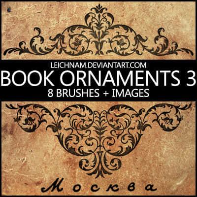 高贵的印染式植物花纹图案Photoshop笔刷素材下载 植物花纹笔刷 印花笔刷  adornment brushes