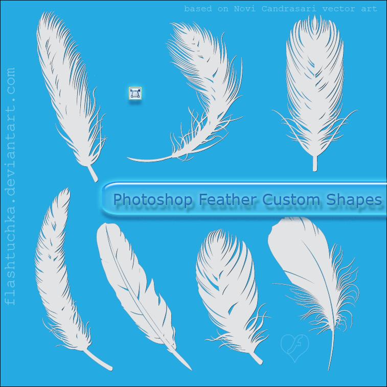 漂亮的羽毛造型PS自定义形状素材 羽毛笔刷  wings brushes ps%e8%87%aa%e5%ae%9a%e4%b9%89%e5%bd%a2%e7%8a%b6%e7%b4%a0%e6%9d%90