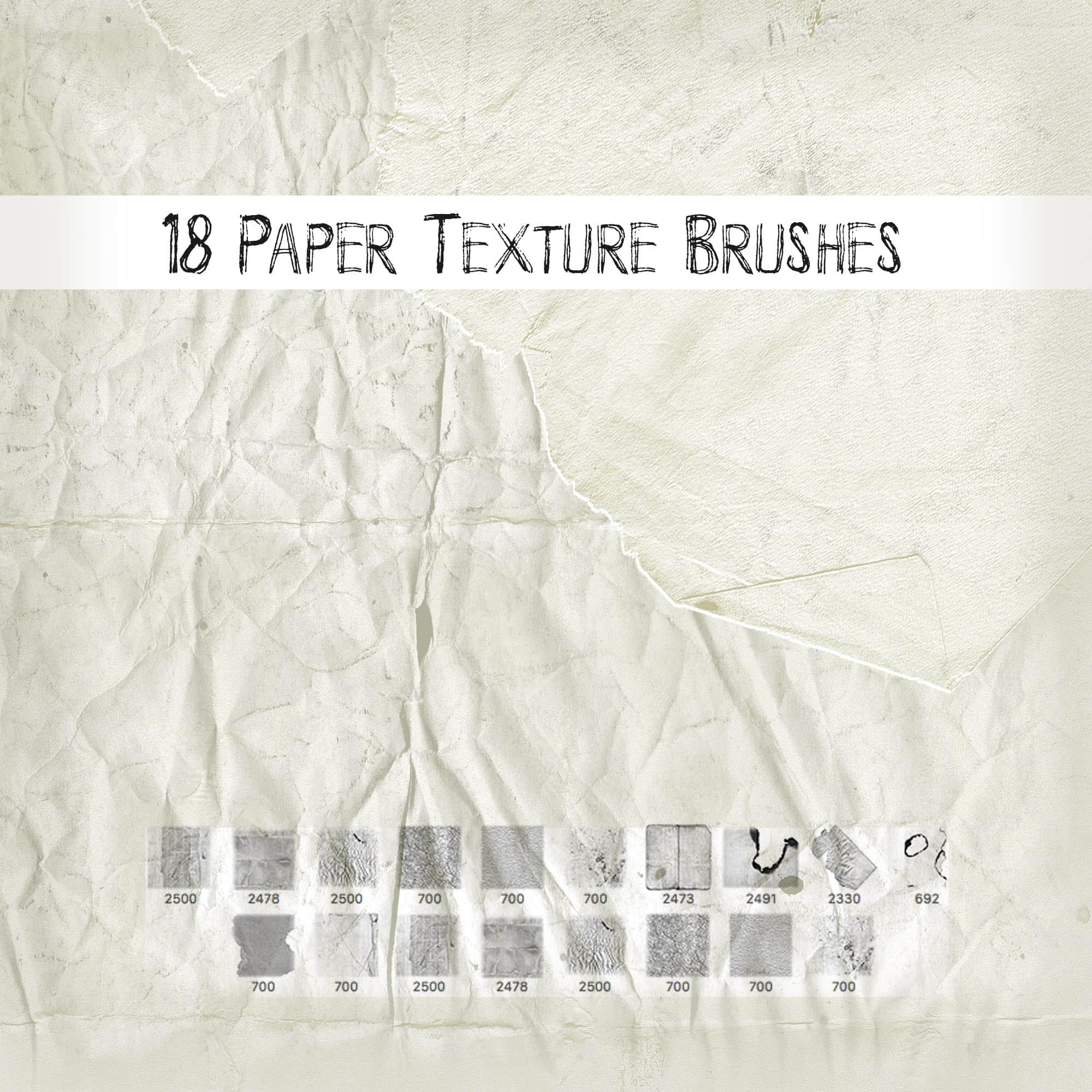 18种纸质纹理背景素材、材质PS笔刷下载
