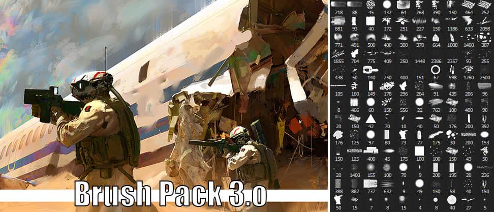 CG插画专用PS笔刷素材(支持photoshop cc 与 cs6 版本)