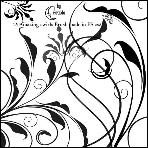 优雅高贵的植物茎叶花朵图案PS笔刷素材 高贵花纹笔刷 植物茎叶花纹笔刷 植物花纹笔刷 印花笔刷 优雅花纹笔刷  flowers brushes