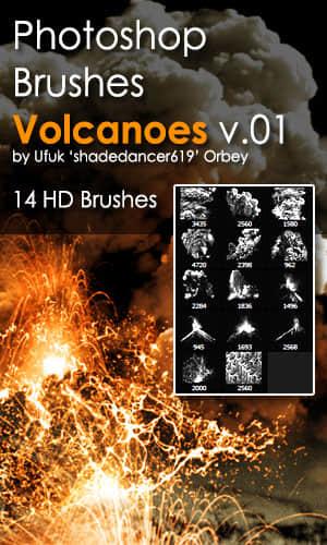 火山喷发、演讲爆发效果PS熔岩笔刷 熔岩笔刷 火山笔刷 火山喷发笔刷 岩浆笔刷  other brushes