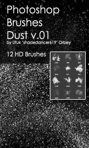 12种高清灰尘纹理、尘埃背景、磨砂式纹理Photoshop笔刷素材
