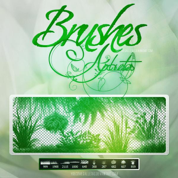 绿色青草、小草、草丛植物Photoshop草地笔刷 青草笔刷 野草笔刷 草丛笔刷 小草笔刷  plants brushes