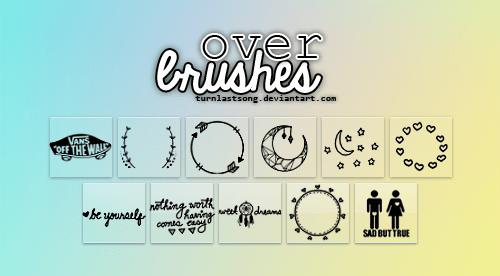 情人节爱心装扮爱心、月亮元素Photoshop卡哇伊笔刷 爱心闭上 情人节笔刷  adornment brushes