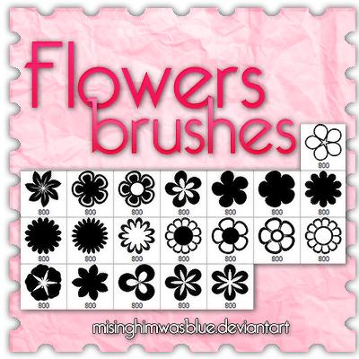 可爱鲜花花朵图案Photoshop花朵笔刷 鲜花笔刷 花朵笔刷  flowers brushes