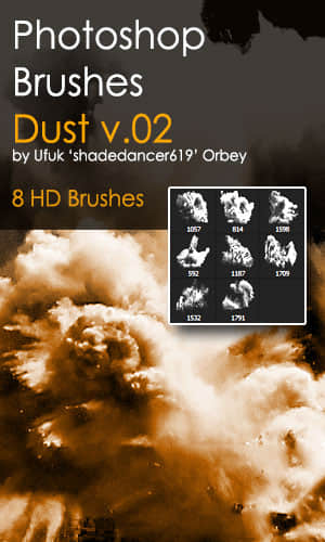 8种高清爆炸效果Photoshop笔刷素材