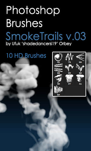 10种高清烟雾、水溶性物质效果Photoshop笔刷素材