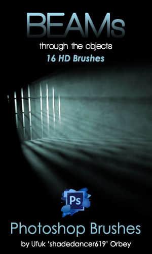 光影照射效果、光线弥漫效果Photoshop笔刷素材