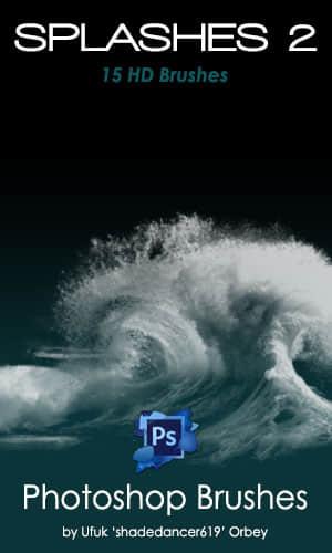 大海海浪、潮水效果PS海水笔刷