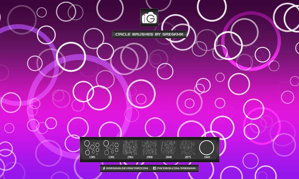 小球、小光圈图案、泡沫式光圈图形Photoshop笔刷素材