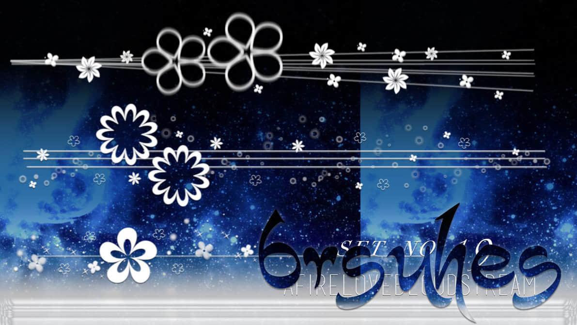 漂亮可爱的花朵、鲜花图案Photoshop花笔刷素材