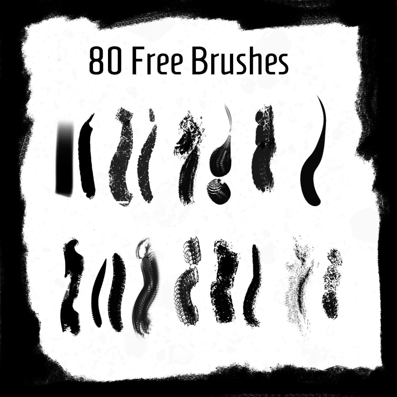 80种免费的常用画笔、笔触Photoshop笔刷素材下载 常用笔刷  photoshop brush