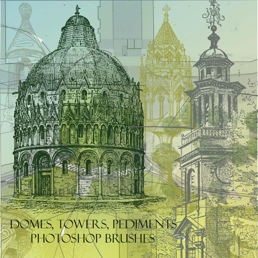 欧洲华丽建筑图纸效果PS笔刷素材 欧洲建筑笔刷 建筑图纸笔刷  %e5%bb%ba%e7%ad%91%e7%ac%94%e5%88%b7