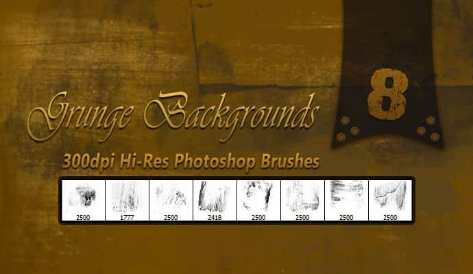 8种高清免费的痕迹纹理PS笔刷素材