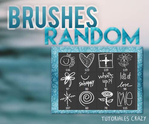卡哇伊童趣涂鸦爱心、花朵、雪花、太阳、鲜花等图形PS可爱笔刷