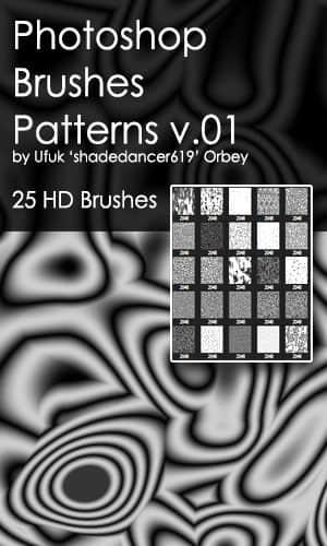 25种抽象扭曲的混沌背景纹理Photoshop笔刷素材