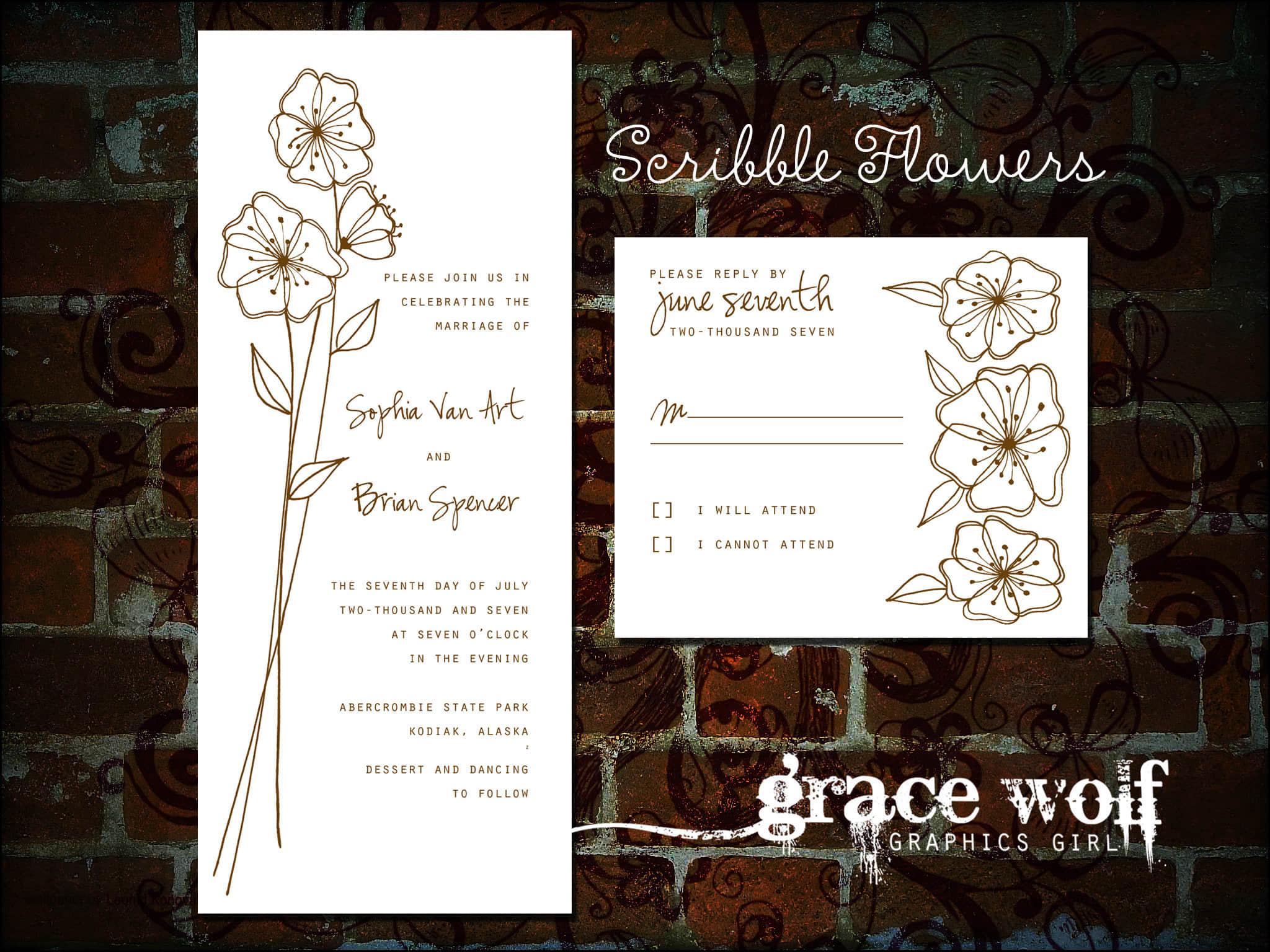 小清新手绘鲜花花朵图案PS笔刷素材