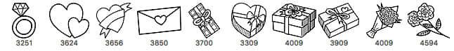情人节手绘元素鲜花花束、爱心礼物盒、玫瑰花、巧克力等Photoshop童趣笔刷