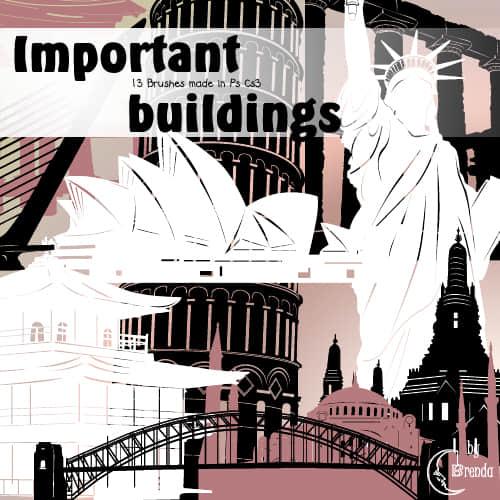 各地世界著名建筑Photoshop笔刷素材