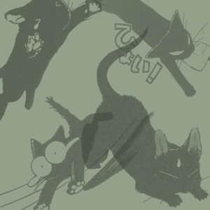 可爱的黑色猫咪、卡通猫图形Photoshop笔刷素材 猫咪笔刷 呆萌笔刷 可爱笔刷  %e5%8d%a1%e9%80%9a%e7%ac%94%e5%88%b7