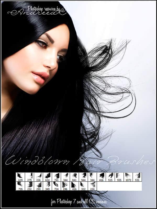 真实的女性长发、黑发图形素材Photoshop头发笔刷