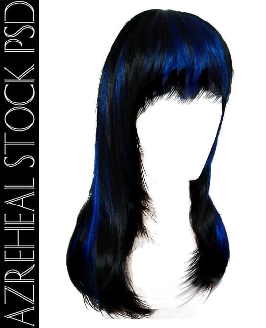 漂亮的深蓝色女式长发发型PS笔刷素材(PSD格式)已抠像! 长发笔刷 女式发型笔刷 头发笔刷 发型笔刷  %e6%af%9b%e5%8f%91%e7%ac%94%e5%88%b7