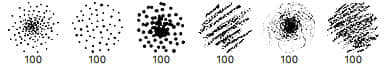 点状图案、蜡笔粉笔涂抹划痕纹理笔刷PS素材下载