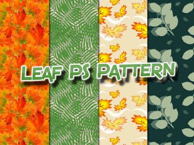 漂亮的叶子背景图案Photoshop图案底纹素材.pat