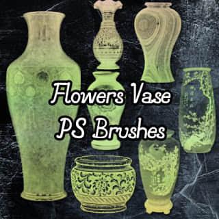 古董花瓶透视图效果PS笔刷素材