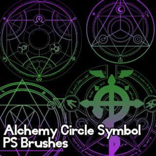 魔法阵图、神秘宗教印记Photoshop魔法符文符号笔刷 魔法阵笔刷 魔法符号笔刷  symbols brushes
