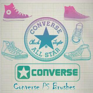 匡威鞋子、手绘板鞋造型Photoshop笔刷素材下载