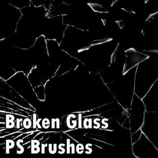 玻璃碎片、玻璃破碎纹理效果Photoshop笔刷素材免费下载 破碎的玻璃笔刷 玻璃笔刷 玻璃碎片笔刷  other brushes