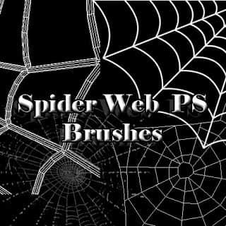 蜘蛛丝、手绘蛛网效果Photoshop笔刷素材