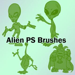 外星人卡通图案Photoshop笔刷素材下载 外星人笔刷  %e5%8d%a1%e9%80%9a%e7%ac%94%e5%88%b7