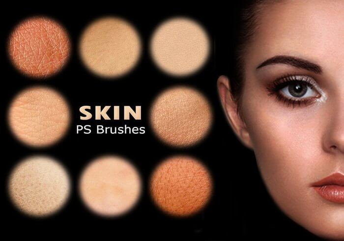 超真实人体皮肤表面纹理Photoshop皮肤笔刷素材