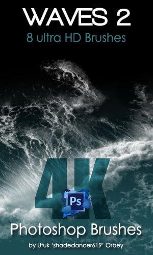 海浪、波浪纹理效果Photoshop水笔刷素材