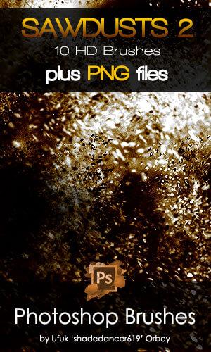 10种高清粉尘颗粒物冲击、爆炸效果PS尘土飞扬笔刷