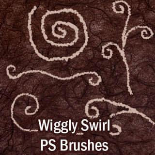 童趣手绘涂鸦线条Photoshop可爱绘画线条笔刷素材