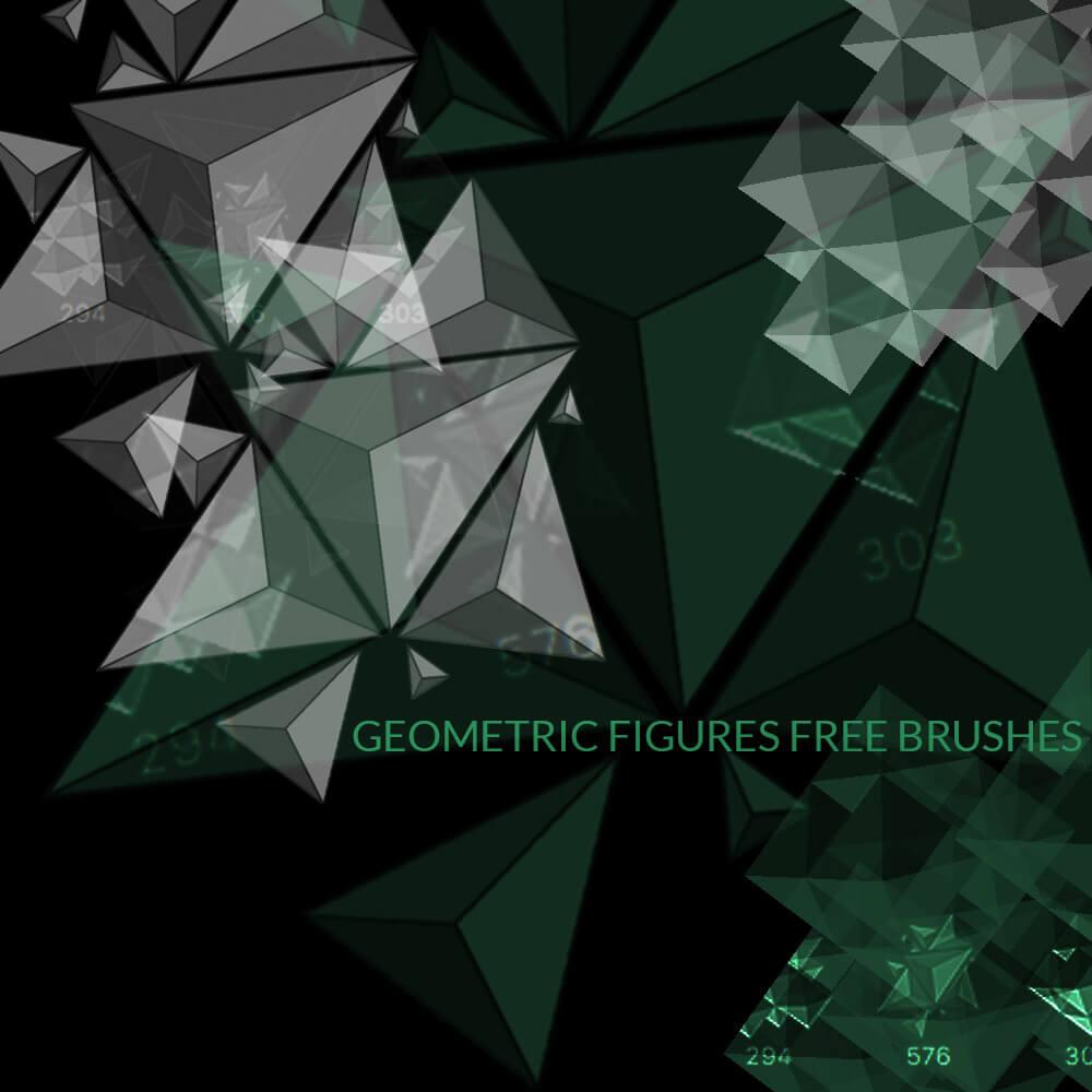 棱形几何图形组合图案PS笔刷素材下载